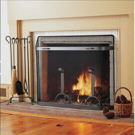 Fireplace Spark Guards and Mesh Curtains
