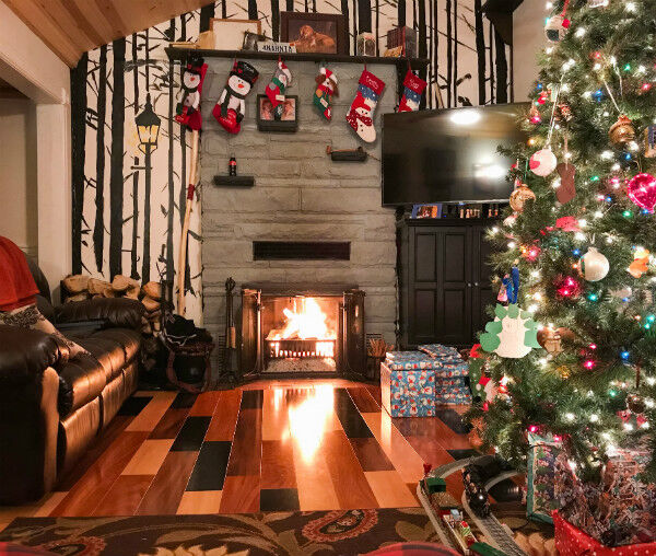 Cozy Woodsy Christmas Hearth