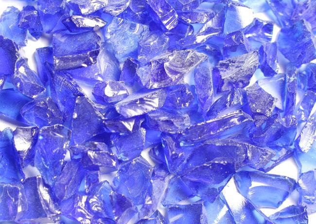 Blue Ice Fire Glass