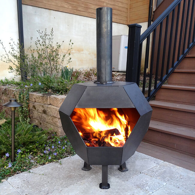 Slate Archimedean Solid Fire Pit