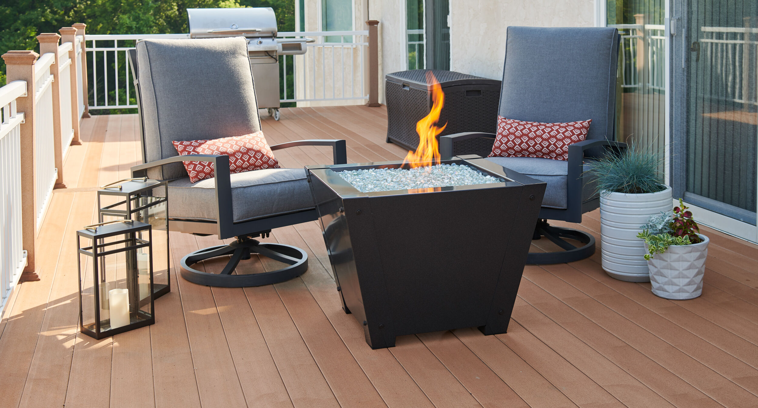 Can I Put A Fire Pit On My Wood Deck Woodlanddirect Com