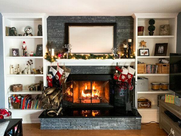 Reindeer Christmas Mantel