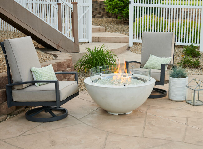 Fire Bowl on Patio