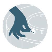 hand holding lit match illustration