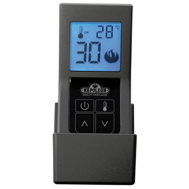 Gray thermostatic hand-held remote control
